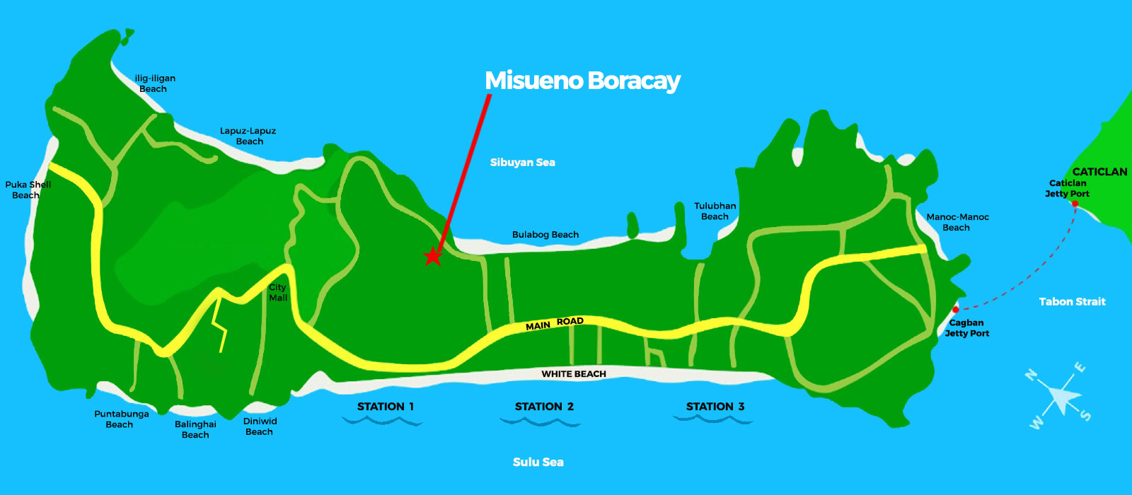 Misueno Boracay - Location Map